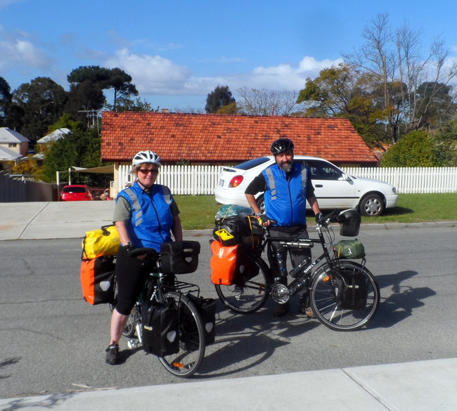 Starting the big journey, Perth, Western Australia, Cycling Across Australia