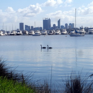 Along the Swan River, Perth, Western Australia - Cycling Across Australia