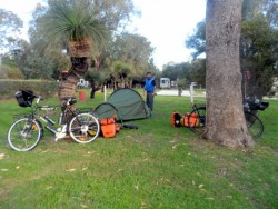 The Vango Tent - Cycling Across Australia