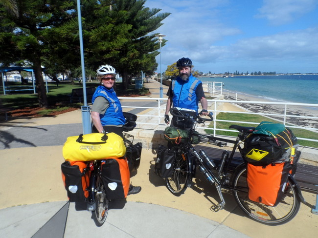 Heading out of Rockingham, Western Australia - Cycling Across Australi