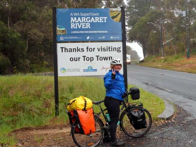 Arriving in Margaret River, Western Australia - Cycling Across Australia