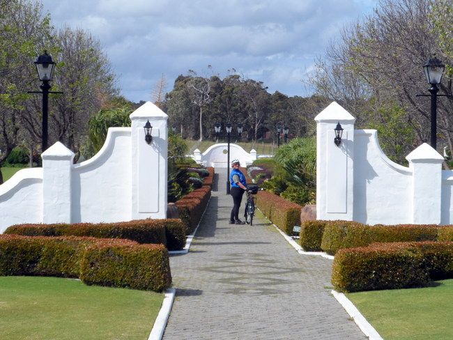 Entrance to Voyager Wineries, Margaret River, Western Australia - Cycling Across Australia