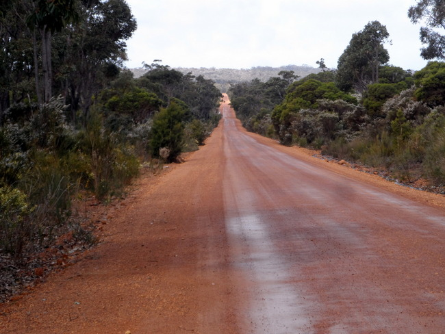Road into Fernhook Falls - Cycling Across Australia