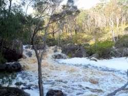 Fernhook Falls running a Banker, Western Australia - Cycling Across Australia