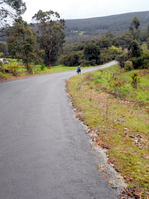 And up again...Road to Walpole, Western Australia - Cycling Across Australia