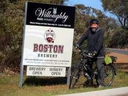 Entry to the Bootleg Brewery, Denmark, Western Australia - Cycling Across Australia