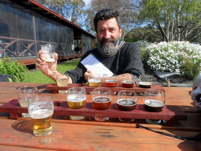 Tasting Palette at the Bootleg Brewery, Denmark, Estern Australia - Cycling Across Australia