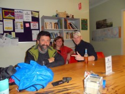 Tim and Dan in the Denmark Hostel, Western Australia - Cycling Across Australia