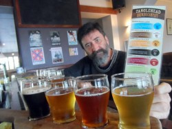Tasting Palate at the Tangle Head Brewery - Albany, Western Australia - Cycling Across Australia
