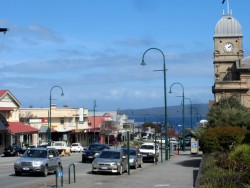 The main street in Albany, Western Australia - Cycling Across Australia