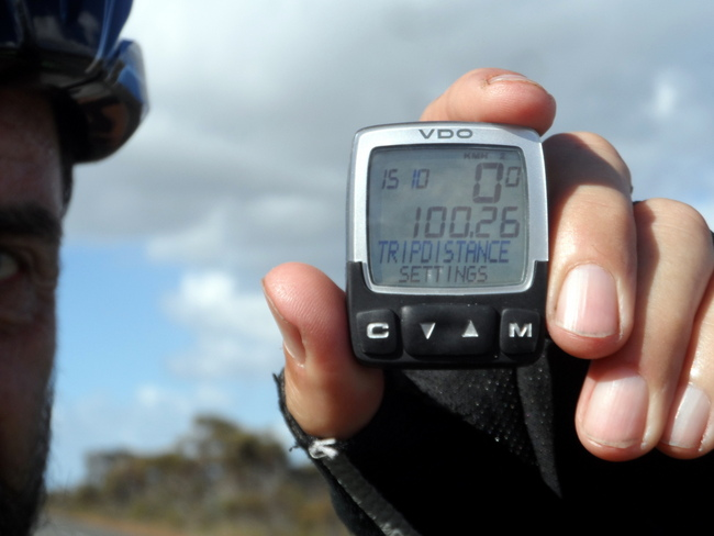 First 100 km day - Cycling Across Australia
