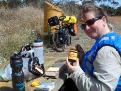 Good Aussie Lunch - VitaWheats, Kraft Cheese and Vegemite - Cycling Across Australia