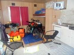 Cabin at Norseman Caravan Park, Cycling Across Australia