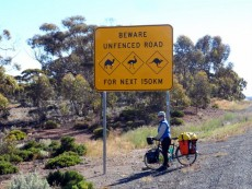Typical sign - Cycling across the Nullarbor, Cycling Across Australia