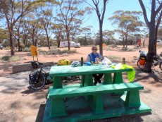Plenty of places to stop for lunch on the Nullarbor - Cycling Across Australia
