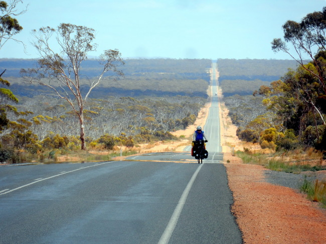 Out there by outselves on The Nullarbor - Cycling Across Australia