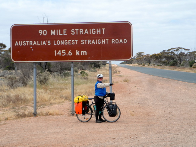 90 mile straight on the Nullarbor, Cycling Across Australia