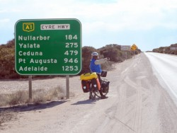 Reminder of the trip ahead - Cycling Across the Nullarbor, Australia