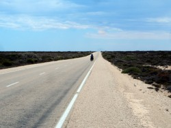 Treeless Plain on the Nullarbor - Cycling Across Australia