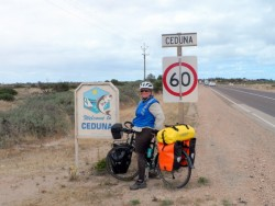 Arriving in Ceduna, South Australia - Cycling Across Australia