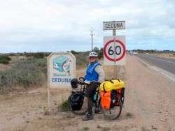 Arriving in Ceduna, South Australia - Cycling Across Australia