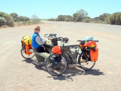 Not much shade between Kimba and Iron Knob - Cycling Across Australia