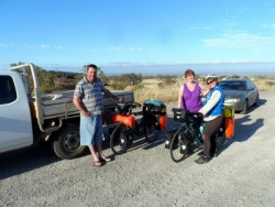Saying goodbye to family, Port Augusta, South Australia - Cycling Across Australia