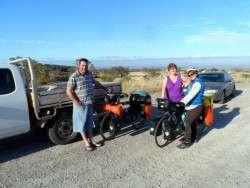 Saying goodbye to family, Port Augusta, South Australia - Cycling Across Australia