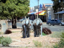 Street Sculpture - Orroroo South Australia, Cycling Across Australia