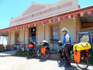 Bikes fully loaded with Ortlieb Panniers - Cycling Across Australia