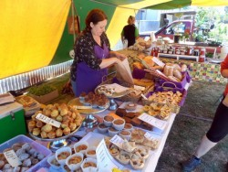 Home cooked goodies - Wirrabara Farmers Market, South Australia - Cycling Across Australia