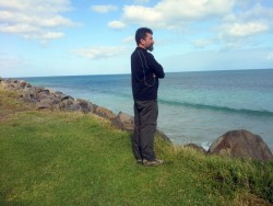 Looking out Henty Beach, Victoria - Cycling Across Australia
