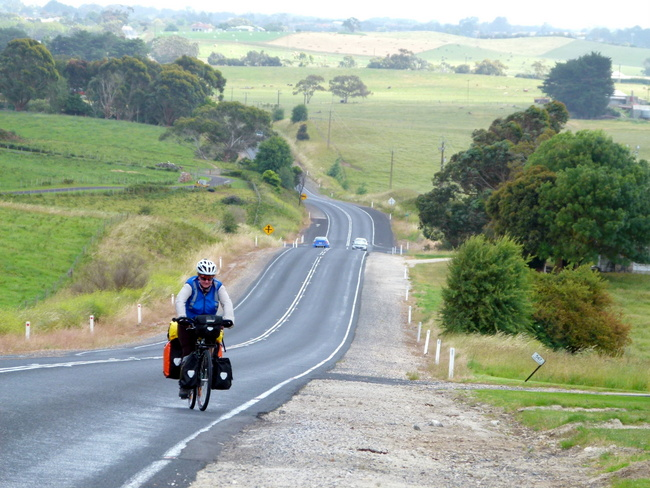 Heading Out of Mt Gambier, South Australia - Cycling Across Australia