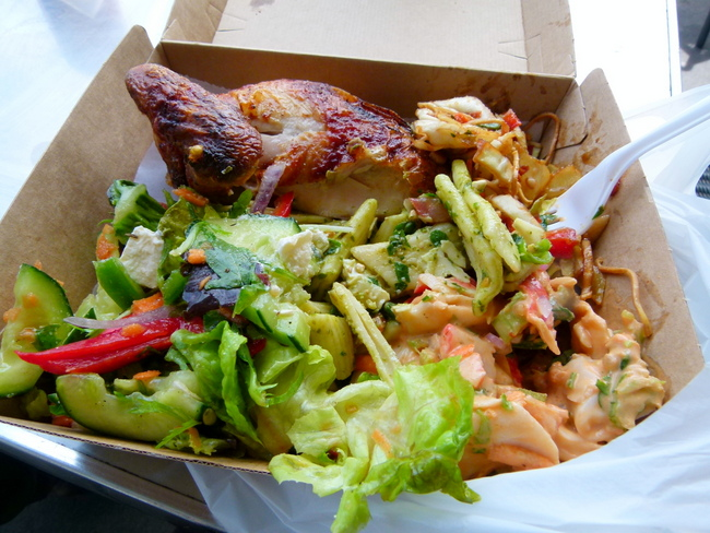 Amazing Chicken and Fresh Salads, Port Fairy, Victoria - Cycling Across Australia