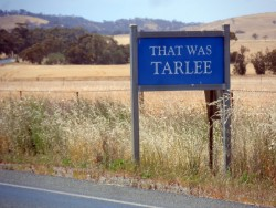 Heading out of Tarlee, South Australia - Cycling Across Australia