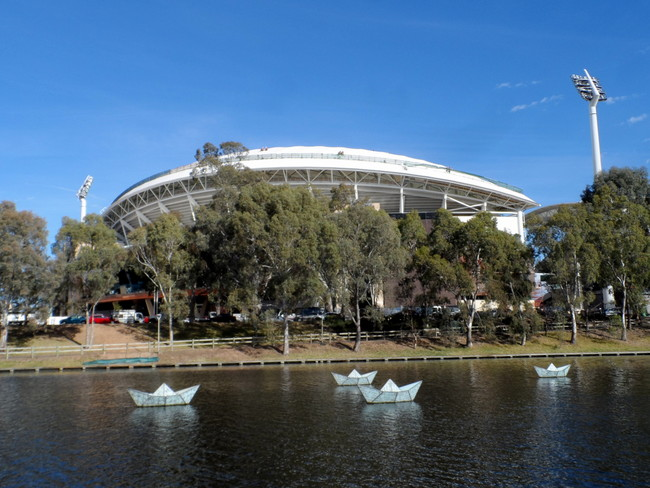Renovated Adelaide Oval, South Australia - Cycling Across Australia