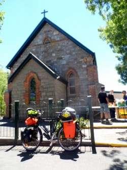 Sausage Sizzle at Euchunga,South Australia - Cycling Across Australia