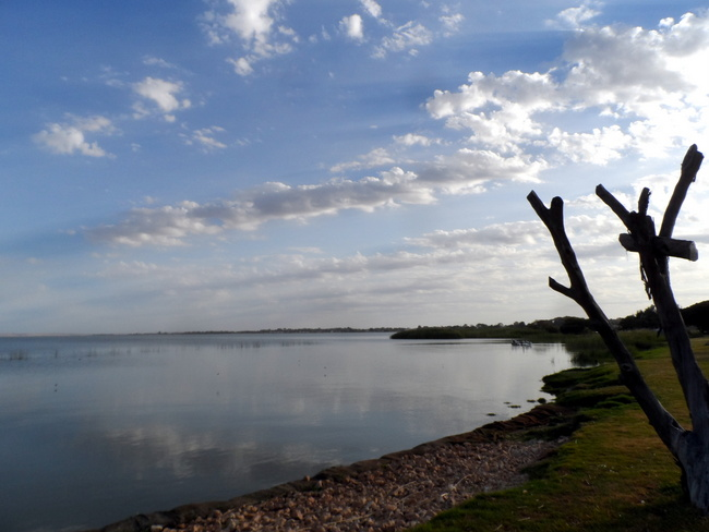 Late Evening over Lake Albert, Meningie- Cycling Across Australia