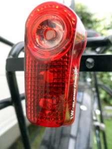 Flashing Rear Light - Cycling Across Australia
