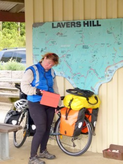 Bragging on Facebook - Lavers Hill - Great Ocean Road, Victoria - Cycling Across Australia