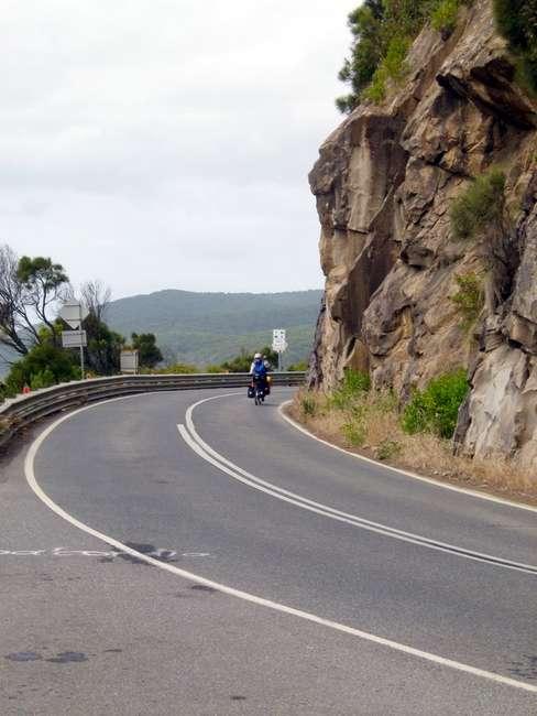 Good Roads, Non-Existent Shoulder - Great Ocean Road, Victoria - Cycling Across Australia