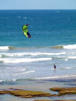 Kite Surfing - 13th Beach, Victoria - cycling Across Australia