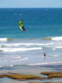 Kite Surfing - 13th Beach, Victoria - cycling Across Australia