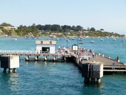 Pulling into Sorrento Pier, Victoria - Cycling Across Australia