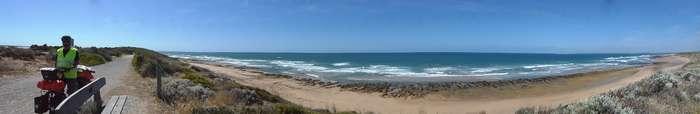 Viewpoint at 13th Beach, Victoria Cycling Across Australia