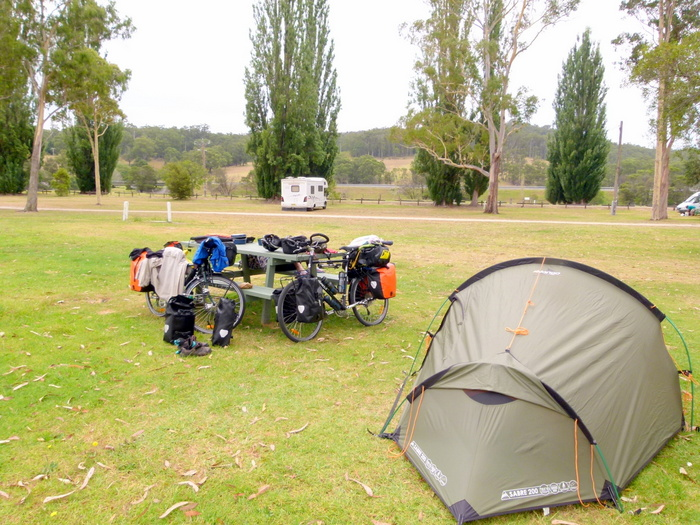 Campsite at Genoa, Victoria - Cycling Across Australia