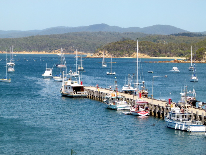 The Wharf at Eden, NSW - Cycling Across Australia