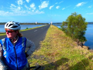 Water both sides - South Coast, NSW - Cycling Across Australia