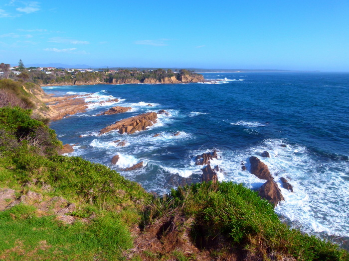 Views on the bike path from Narooma, NSW - Cycling Across Australia