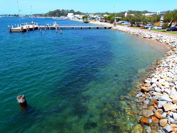 Clear skies and blue water - Batemans Bay, NSW - Cycling Across Australia